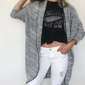 Marled gray cozy cardigan